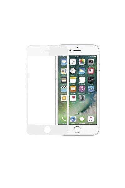 Iphone 7-8 Uyumlu Tam Kaplayan Kavisli Nano Kırılmaz Beyaz
