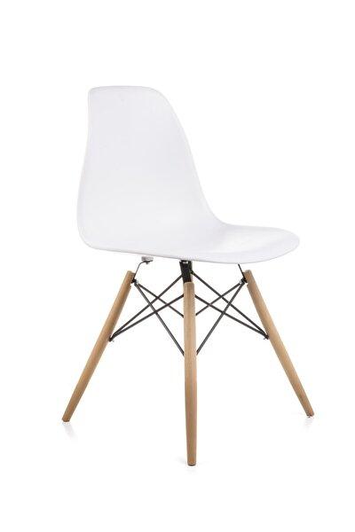 Mona Beyaz Sandalye - Cafe Balkon Mutfak Sandalyesi
