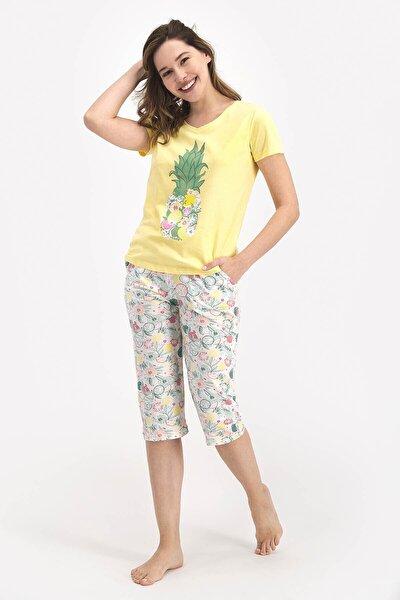 Kısa Kol Kaprili Pijama Takımı ( Anne Kız Kombin Yapılabilir Fiyatlar Ayrı Ayrıdır )