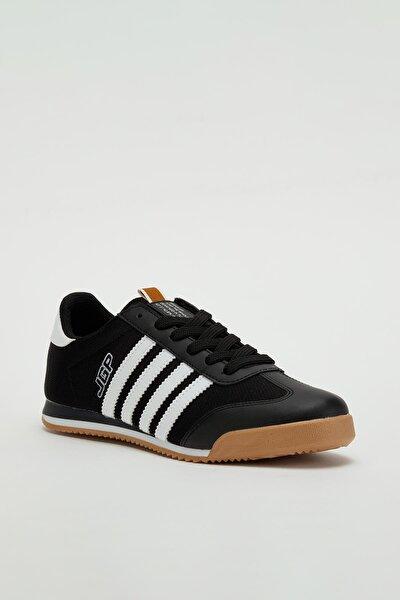 Erkek Siyah Bağcıklı Sneaker Mgbarney02