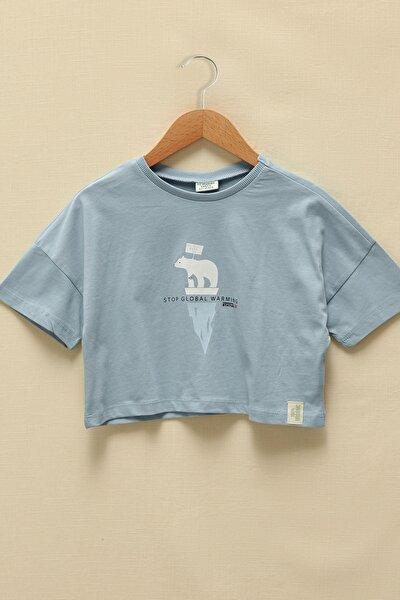Kız Çocuk Açık Mavi Ffh T-Shirt