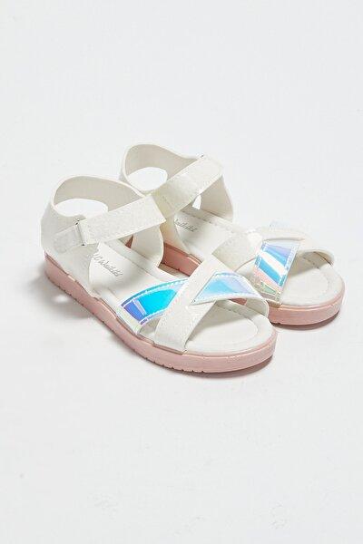 Kız Çocuk Beyaz J5E Sandalet