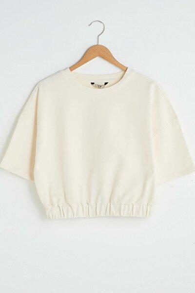 Kadın Açık Bej Sweatshirt