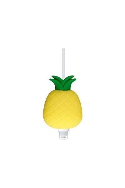 Sevimli Silikon Kablo Koruyucu Ananas