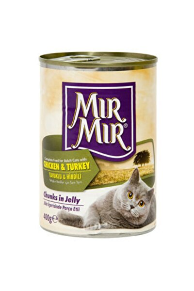 Mırmır Kedi Konserve 400 Gr Tavuklu Ve Hindi Etli