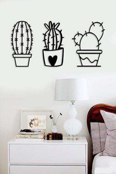 Trend Lazer Kesim Ahşap Duvar Dekoru - Trend Kaktüs Kaktussyh