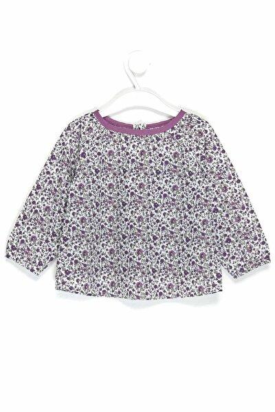 Kız Bebek Desenli Gömlek 6-36 Ay 3581