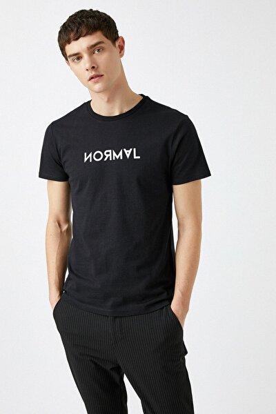 Erkek Siyah T-Shirt 1YAM11427CK