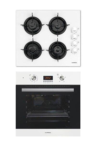 2'li Set (b66-sf2 Dijital Beyaz Fırın-lx-40 Tahdf Beyaz Ocak)