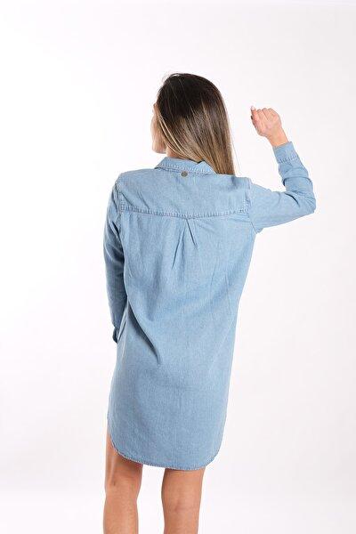 Kadın Jean Gömlek Elbise