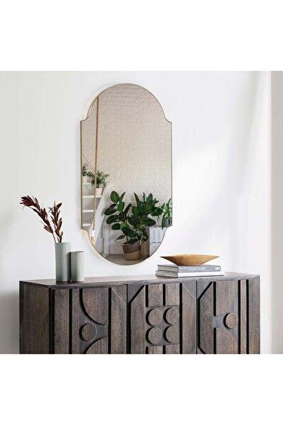 Retro Bronz Duvar Hol Antre Aynası Dekoratif Ayna