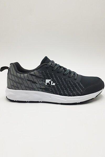 Erkek Gri  Bağcıklı Sneaker