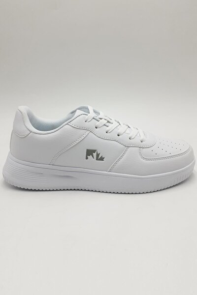 Unisex Beyaz Bağcıklı Sneaker