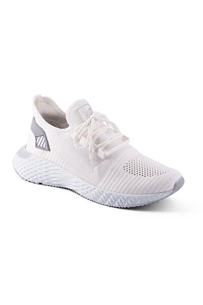 132 Beyaz Renk Beyaz Taban Erkek Spor Ayakkabı