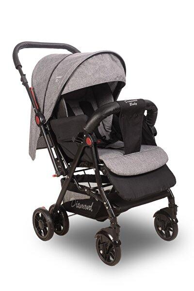 Gri Sapphire Çift Yönlü Bebek Arabası