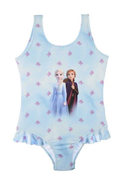 Disney Frozen Kız Çocuk Mavi Mayo