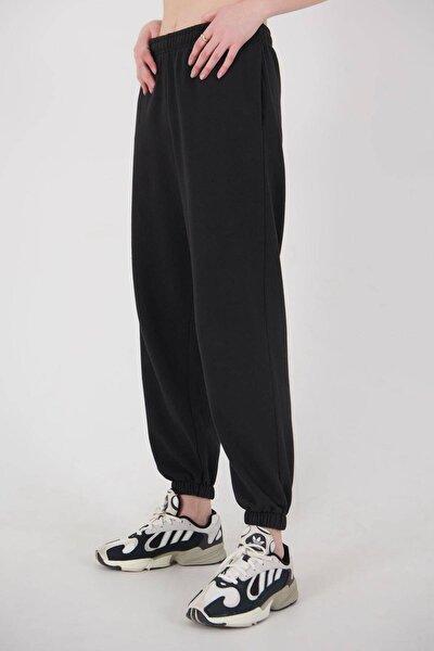 Kadın Siyah Cep Detaylı Eşofman Eşf1107 - E8 Adx-0000023655