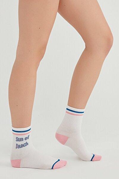 Kadın Beyaz Cool Beach Soket Çorap
