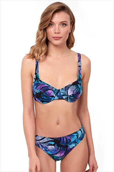 Kadın Mavi Toparlayıcı Bikini Takımı 40628