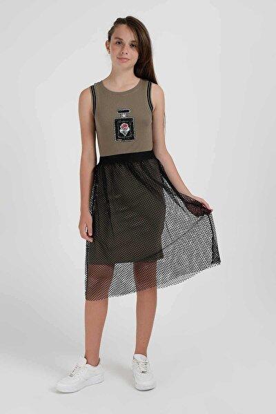 Kız Çocuk Elbise 9-15 Yaş MEL6408