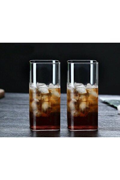 Dikdörtgen Isıya Dayanıklı Borosilikat Trend Meyve Suyu Ve Tatlı Bardağı (2 Adet 300 Ml 12 Cm)
