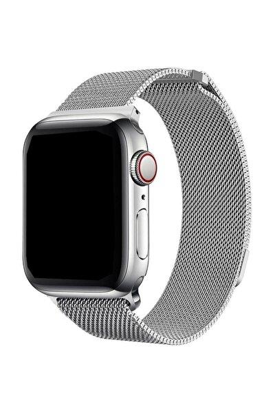 Apple Watch 2 3 4 5 42 mm 44 mm Hasır Örgü Metal Milano Kordon Kayış