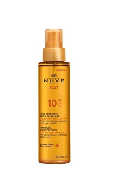 Sun Güneş Bronzlaştırıcı Yüz Ve Vücut Yağı Spf 10 150ml + Saç, Vücut Sampuanı Hediye150 ml