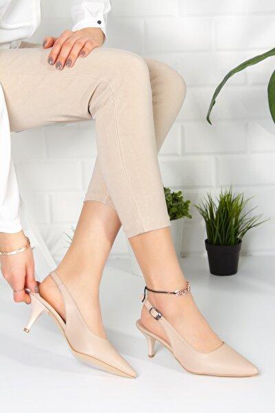 Kadın Ten Analin Topuklu Ayakkabı
