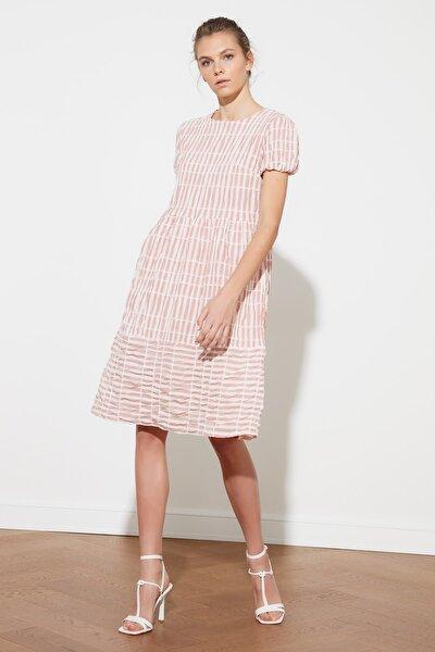 Çok Renkli Kareli Elbise TWOSS21EL1558