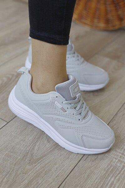 Unısex Gri Sneaker Spor Ayakkabı  202-1562