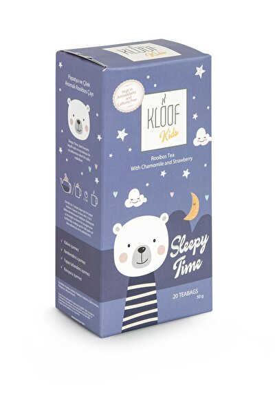 Kloof Kids Sleepy Time, Çilekli Ve Papatyalı Roybos Çayı 50 gr 20'li Demlik Poşeti