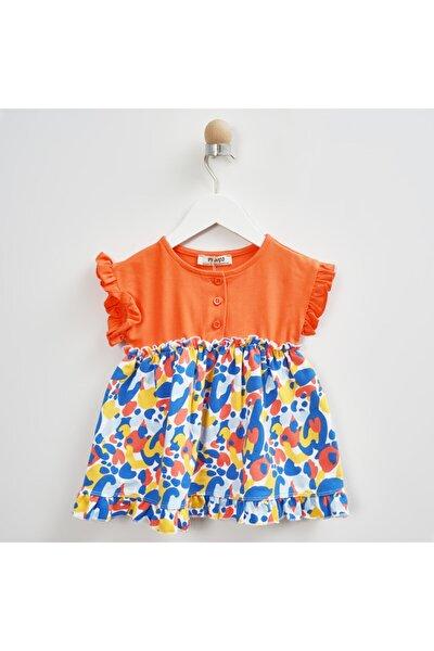Kız Bebek Turuncu Örme Elbise 2111gb26021