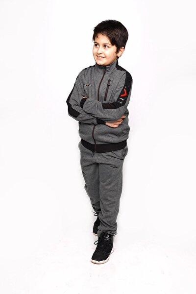 Erkek Çocuk Gri Petek Kumaş Active Eşofman Takımı
