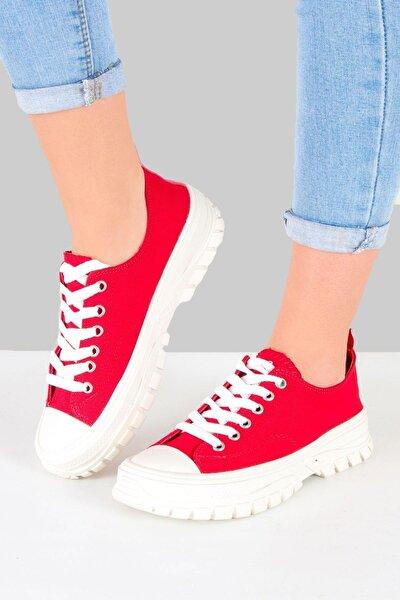 Kadın Kırmızı Günlük Spor Ayakkabı (pc-30661)