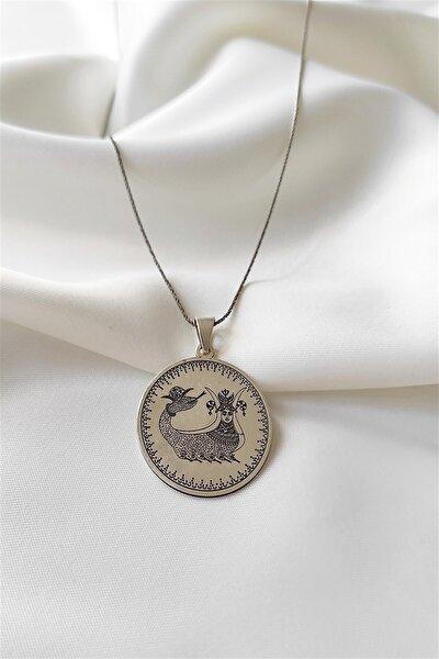 925 Ayar 6,50 Gram Gümüş şahmeran Gümüş Kolye Uzunluk 45 Cm