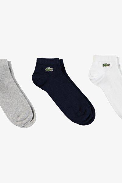 Sport Erkek Kısa Beyaz - Lacivert - Gri Çorap RA2105F