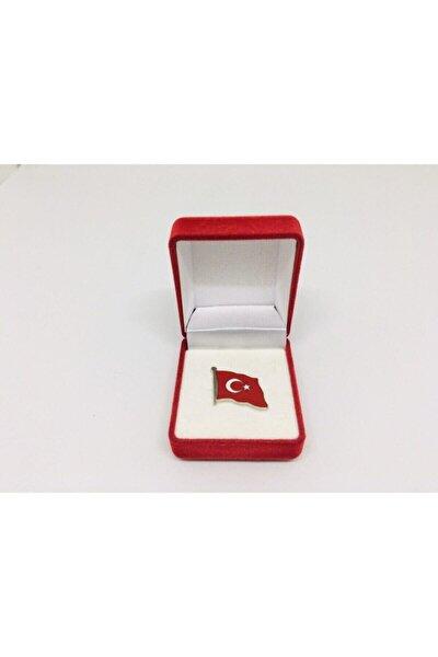 Dalgalı Türk Bayrağı Yaka Rozeti/broş Bayrak Rozeti