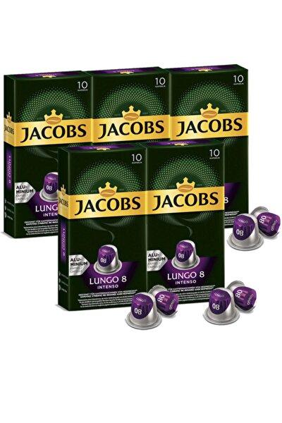 Lungo Intenso 8 Kapsül Kahve 10 Adet  5 Paket