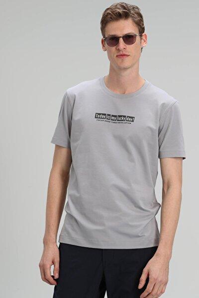Timur Modern Grafik T- Shirt Gri