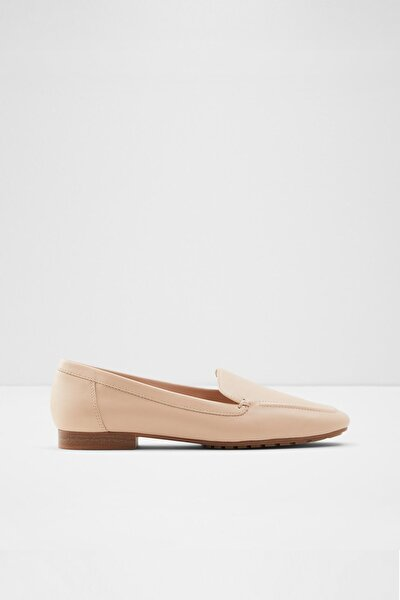 Kadın Pudra Düz Loafer Ayakkabı