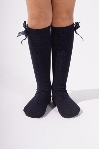 Family Dizaltı Çocuk Basic Çorap Siyah