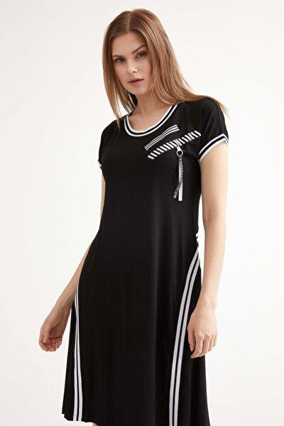 Kadın Kısa Kol Elbise - Siyah