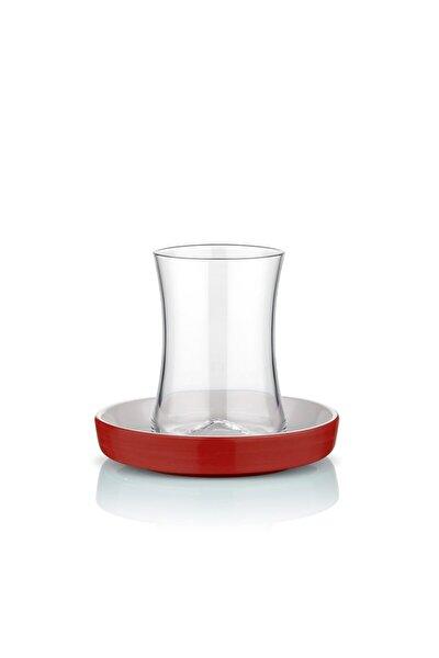Istanbul Tiryaki Kırmızı Çay Bardağı Seti 6 Lı
