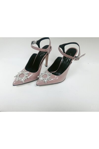 Kadın Pudra Nell Topuklu Ayakkabı