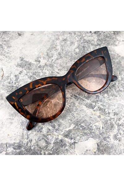 Kadın Leopar Desenli Güneş Gözlüğü