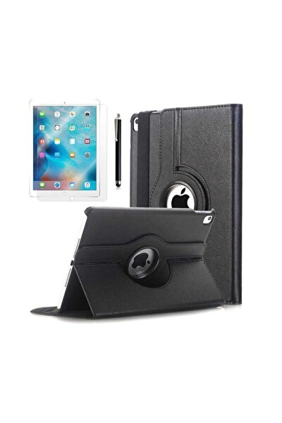 Ipad 7.8.Nesil 10.2 Inç Dönerli Tablet Kılıfı Seti Ekran Koruyucu+Kalem Ipad Tablet Seti