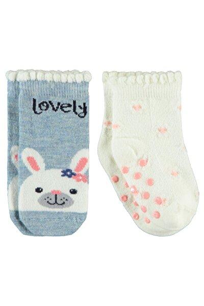 Kız Bebek Ekru Çorap 0-24 Ay 2'li