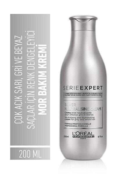 Serie Expert Silver Çok Açık Sarı, Gri Ve Beyaz Saçlar Için Renk Dengeleyici Mor Bakım Kremi 200 Ml