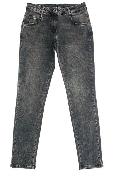 Kadın Füme Denim Lovers Klasik Likralı Jean