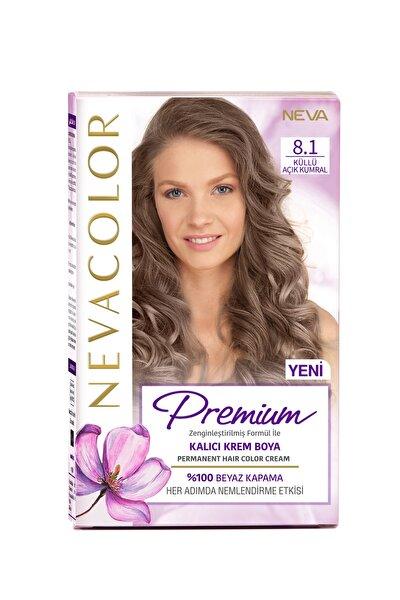 Nevacolor Premium Kalıcı Krem Set Boya 8.1 Küllü Açık Kumral